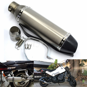 for Motorcycle parts Exhaust Universal 51mm Stainless Steel Motorbike Exhaust Pipe For Suzuki GSXR1300 GSX650F GSX1250 TL1000R