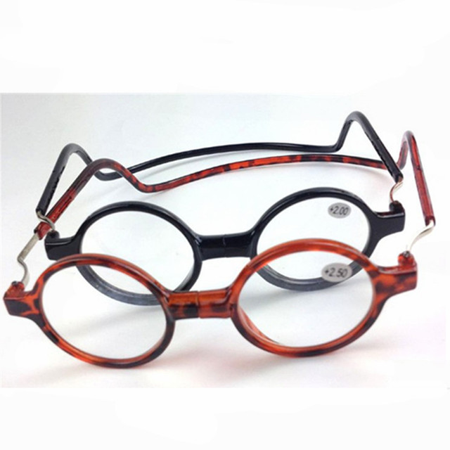 Mix Fashion Folded Magnetic Reading Glasses Click Hang Around Never Lose Again +1.0 1.5 2.0 2.5 3.0 3.5 4.0 Neck Wear Glasses