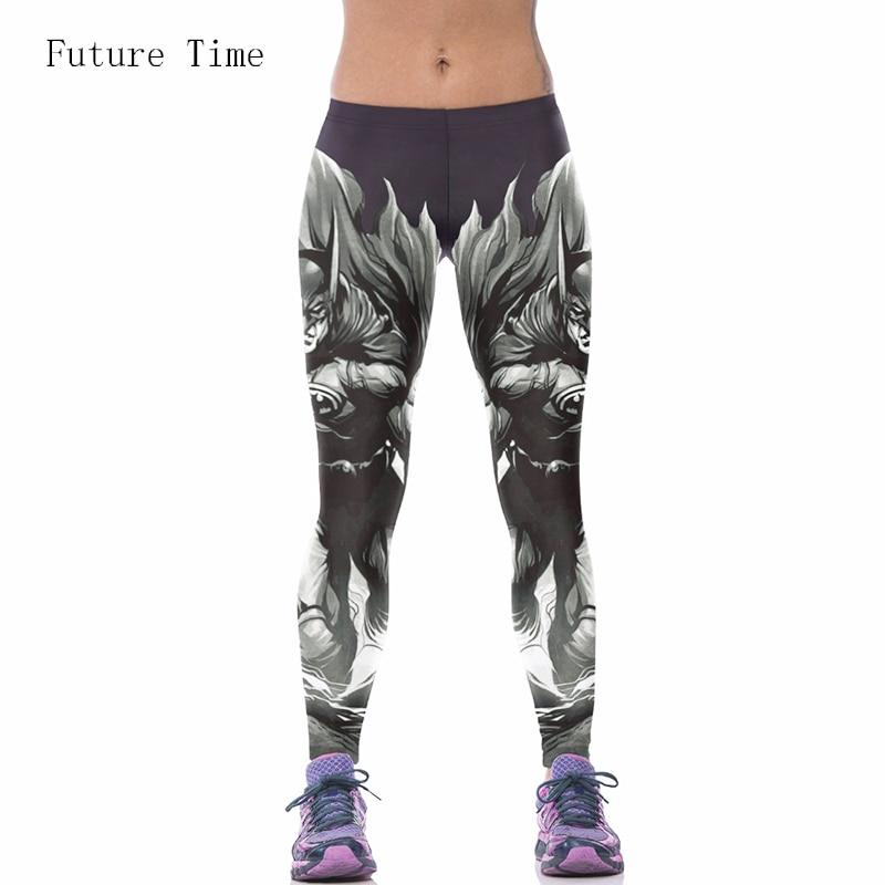 2017 Ny digital digitaltrykning Europa Style tegneserie Batman hip Slim tynde leggings åndbar Leggings gratis forsendelse MH067