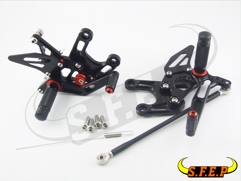 CNC Adjustable Rearsets Rear Sets foot pegs For Aprilia RSV4(Factory/R) APRC ABS 2013-2014-2015-2016 morais r the hundred foot journey
