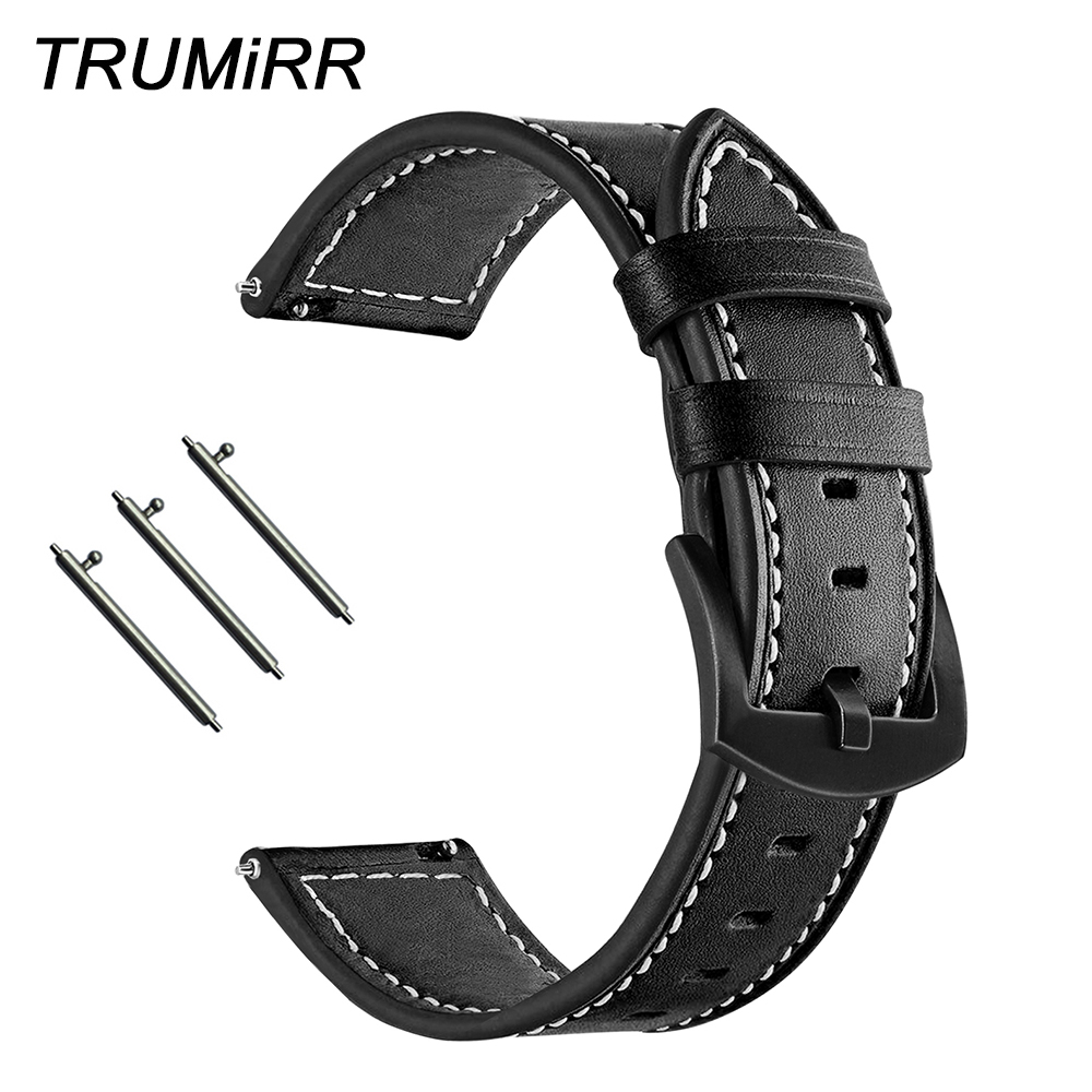 Quick Release Genuine Leather Watchband 20mm 22mm for Tissot Hamilton Luminox Oris Mido Replacement Watch Band Strap Wrist Belt image