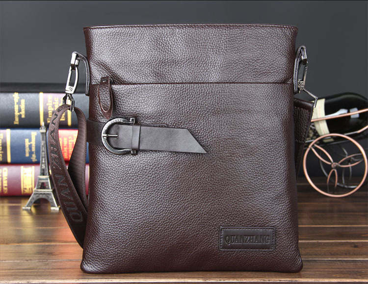 ФОТО New Arrival first class of cowhide man bag full leather guaranteed shoulder bag, male brand business casual messenger bag
