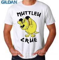 Wholesale Price Custom Shirts Online O-Neck Men Wacky Races Muttley Crew Crue Dog Novelty Short Sleeve Tees