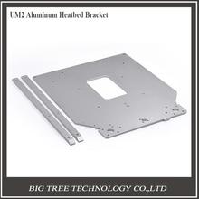 Бесплатная доставка Ultimaker 2 UM2 Z стол опорной плиты платформы кронштейн, поддерживающие алюминий с подогревом Горячие Станина 3D части принтера
