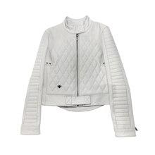 RR Genuine Leather Jacket Women Winter Fashion Real Sheepskin Leather Coat Women Short Jacket Female Ladies Clothes RL003