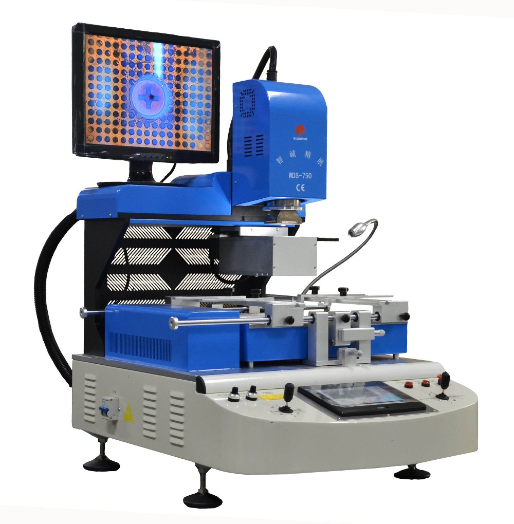 SMT pick and place machine WDS 750 ball joint repair machine ccd camera bga rework station for iphone 5s 6 icloud removal