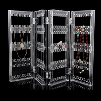 HOT SALE Acrylic Clear Jewelry Earrings Showcase Display Holder C0741P10