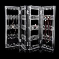 HOT SALE Acrylic Clear Jewelry Earrings Showcase Display Holder C0741P10
