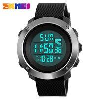 SKMEI Brand Luxury Men S Fashion Sports Watches 50M Waterproof Chrono Countdown Digital Watch Man Steel