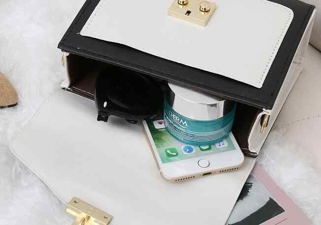 New color contrast moda feminina tendência simples saco de mão pendurada no ombro bloqueio bolsa