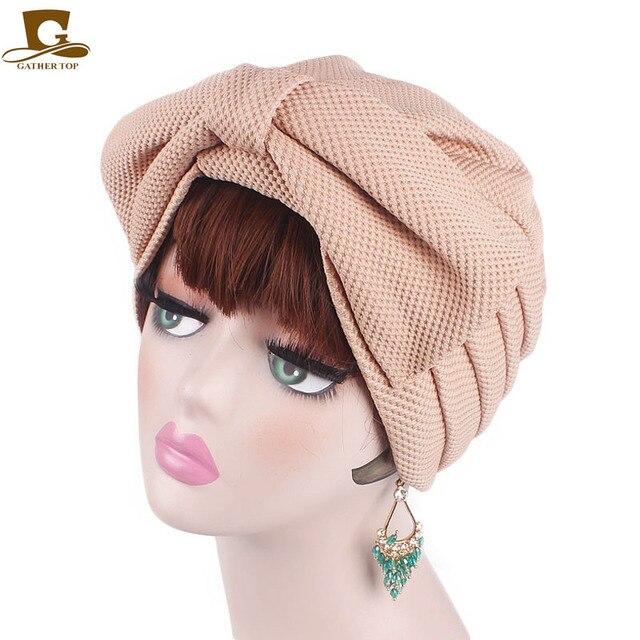 Nuovo di modo Musulmano India di Lusso Delle Donne Grande Fiocco del Cappello Turbante Cofano Chemio Hijab Beanie Cap Signore Turbante accessori per capelli