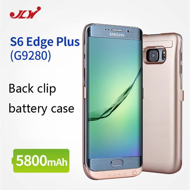 Jlw 5800 mah recarregável de backup de energia caso capa para samsung galaxy s6 edge + carregador de bateria externa case para s6 edge plus