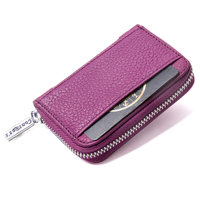 2020 New Fashion Card Wallet With Brand Design Women Wallets Genuine Leather Zipper Bank Card Bag Fashion Card & ID Holders