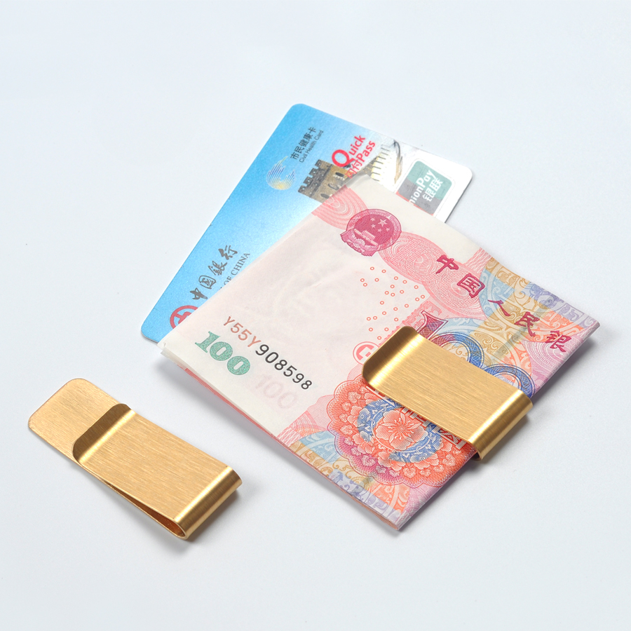 2pcs/lot New Stainless Metal Money Clip Durable Titanium Steel Clip For Money Dollar Cash Clip New Clamp For Money
