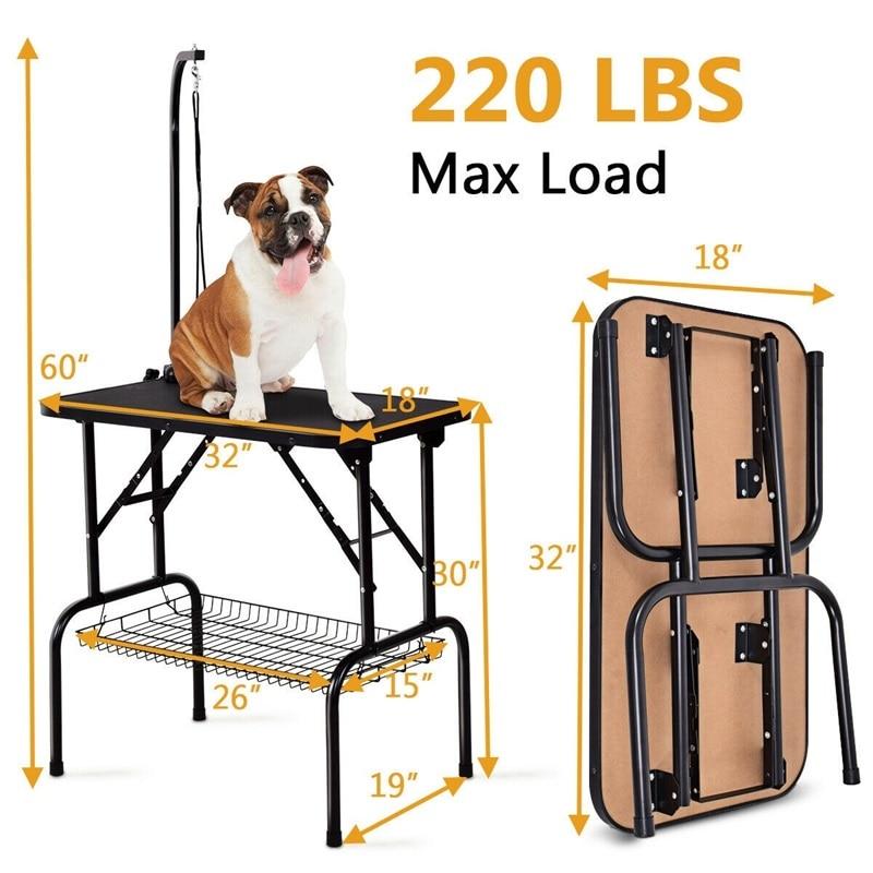 32 стол для ухода за домашними животными прочный складной резиновый Топ PS6895
