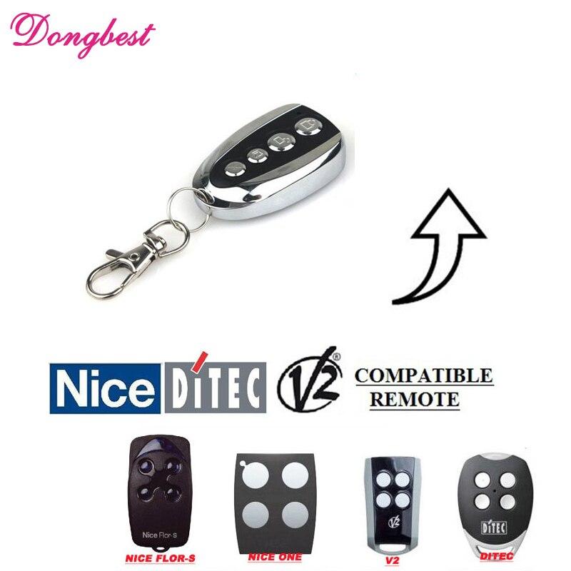 TOP FOR NICE FLORS DITEC GLO4 V2 Gate Door Opener Rolling code Handsender Remote Key Clone