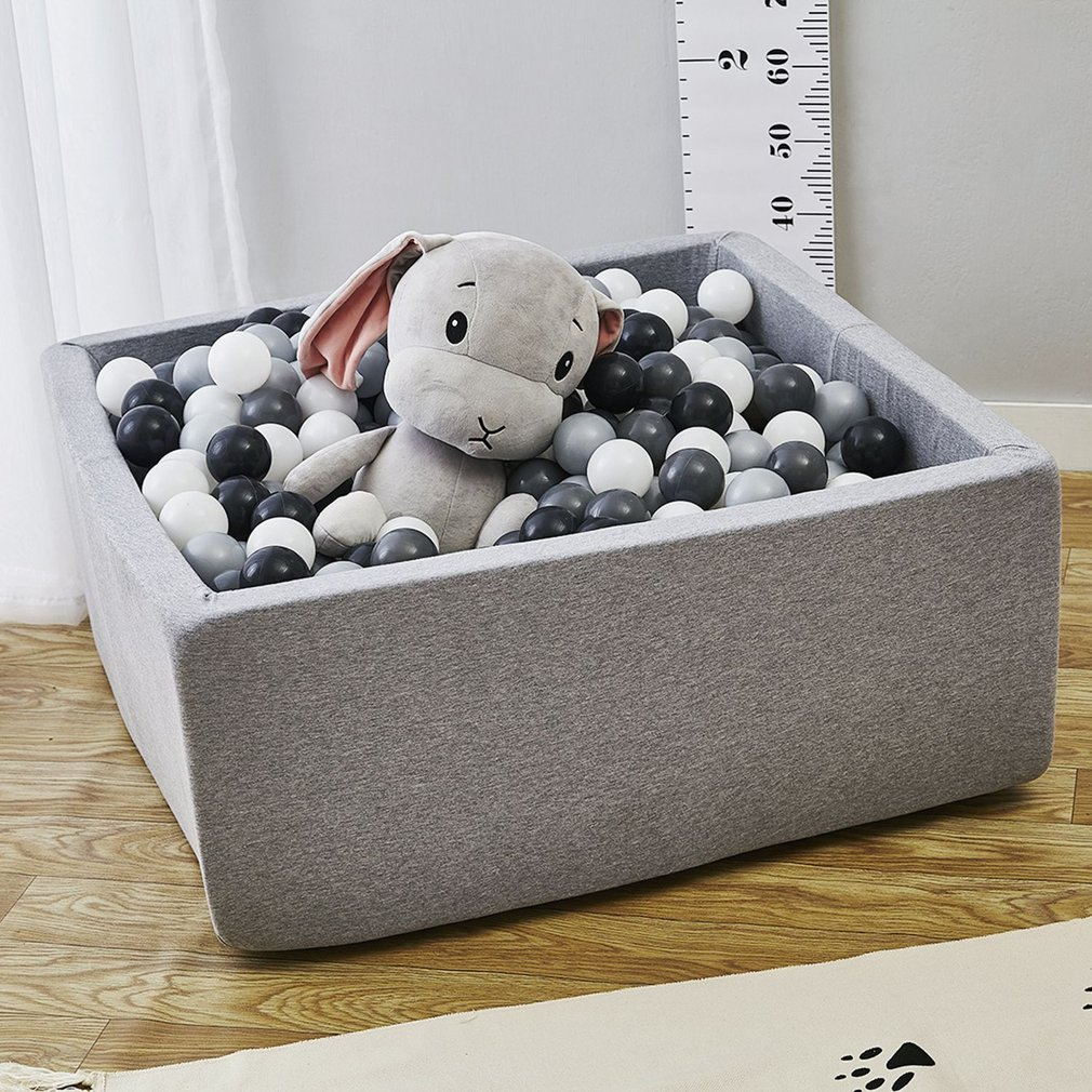 Square Play Pool Baby Ocean Ball Pool Soft Sponge Ball Pool Funny Playground Pit Playhouse Toy For Children Gift Indoor Outdoor environmental pu software footlog with wooden frame and sponge kids soft toy plant children playground set ylw ina171019
