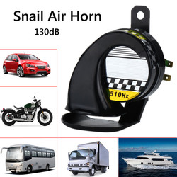 Car 12V Waterproof Snail Air Motorcycle Horn Siren Loud 130dB For Truck Motorbike