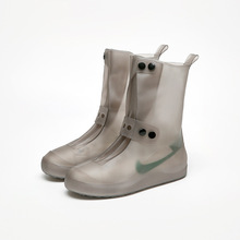 Waterproof Shoes Cover 5 Colors PVC Integral Mould Non-Slip Rain Cover Men Women Elastic Reusable New High Rain Boots Overshoes
