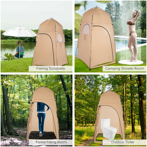 Image 2 - TOMSHOO Portable Outdoor Tents Shower Bath Changing Fitting Room Tent Shelter Camping Beach Privacy Toilet Camping & Hiking