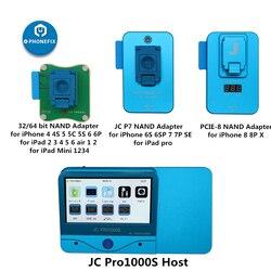 JC Pro1000S JC P7 P11 NAND programador Número de serie leer escribir herramienta de reparación para iPhone 11 XR XS Max 8X7 7 P 6 6S todo iPad