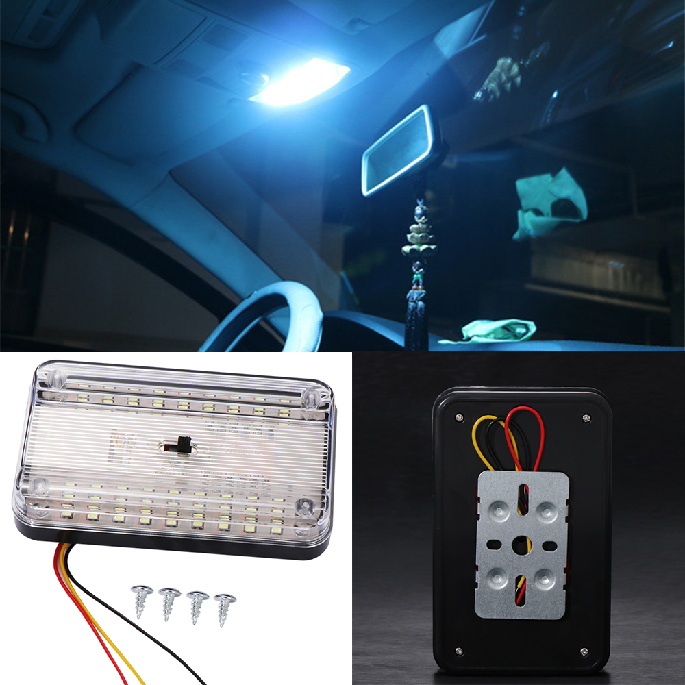 Car Vehicle Interior Dome Roof Ceiling Reading Trunk Light Lamp 12v 36 LED
