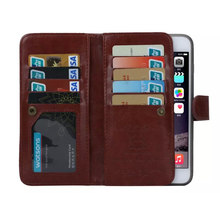 Coque Case for iPhone 6s Plus & 6 Plus Leather Cover Business Phone Cases 9 Credit Card Holder 2 In 1 Detachable Capa Fundas(China)