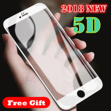 2018 New 5D Full Cover Tempered Glass For iPhone X 6 6S 7 Plus Full Screen Protector Protective Film For iPhone X 8 Plus Glass