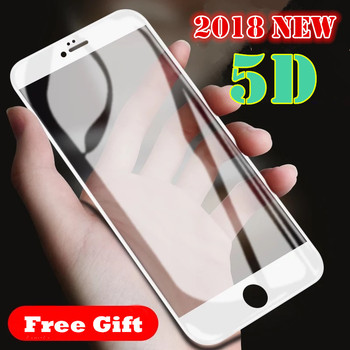 2018 New 5D Full Cover Tempered Glass For iPhone X 6 6S 7 Plus Full Screen Protector Protective Film For iPhone XS Max XR Glass