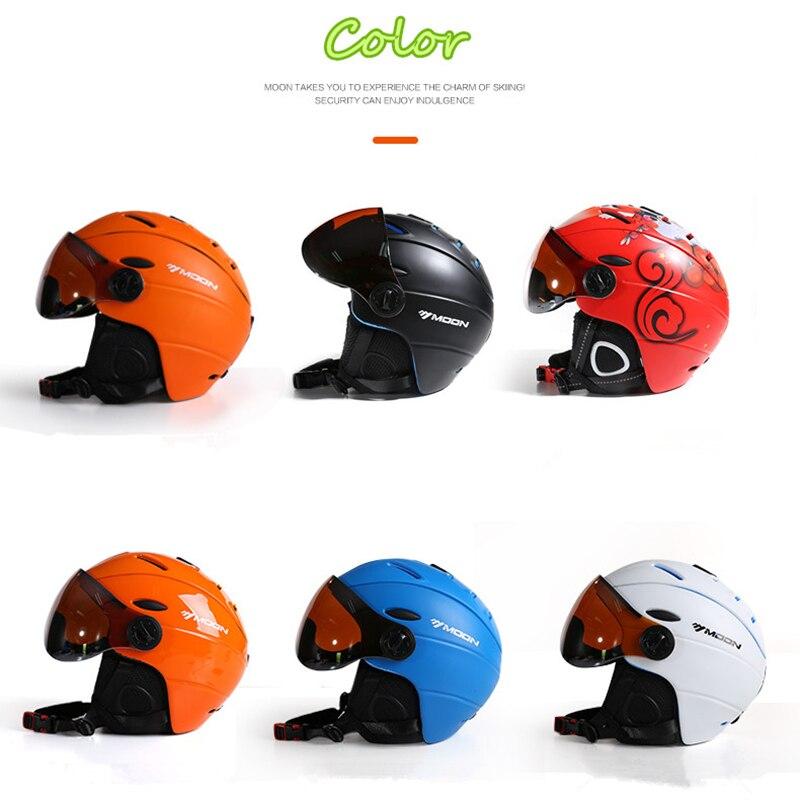 MOON CE сертификат скейтборд шлем интегрально формованные очки лыжный шлем для мужчин и женщин Спорт на открытом воздухе сноуборд шлем M/L/XL - 2