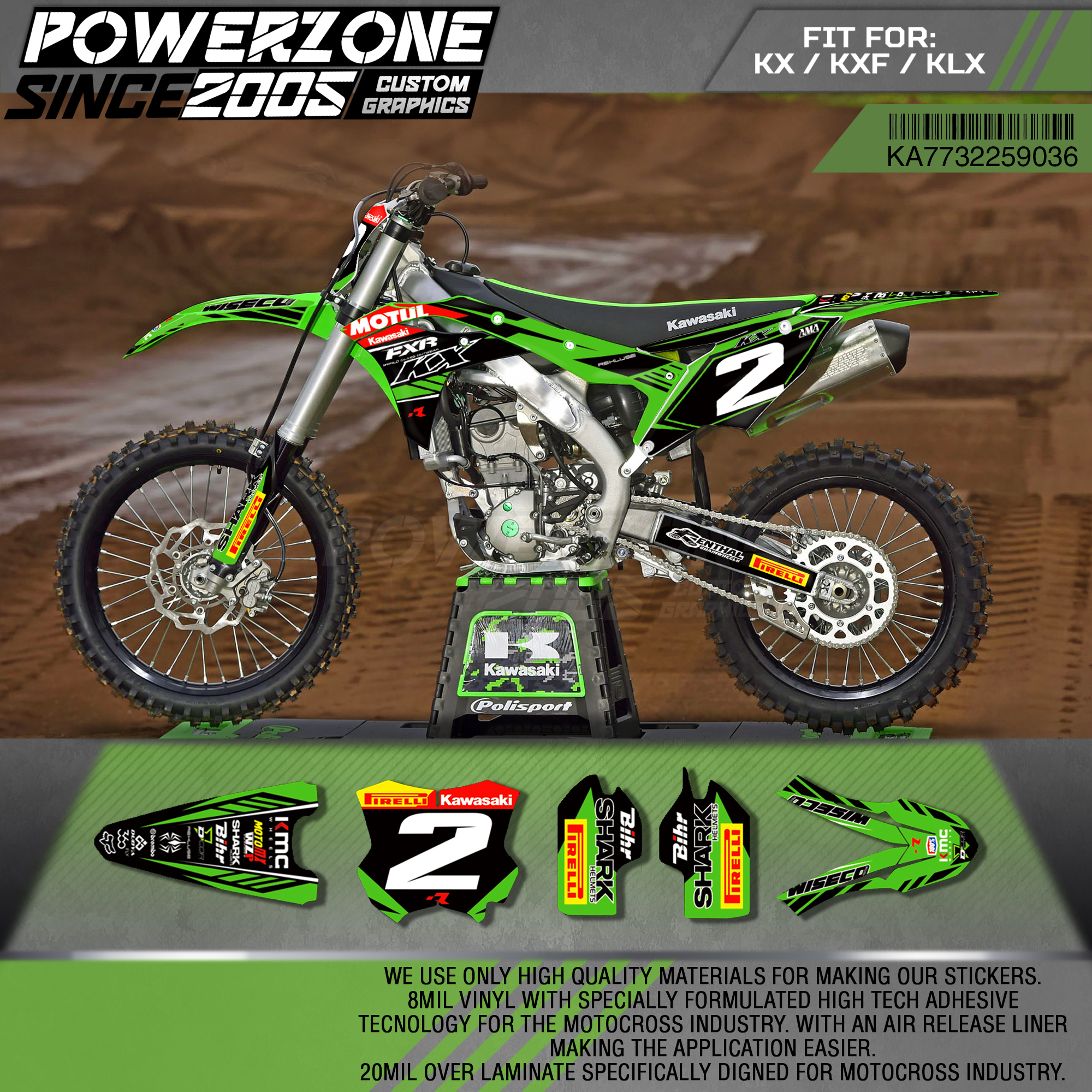 Good quality and cheap kx250f graphics kit in Store Xprice