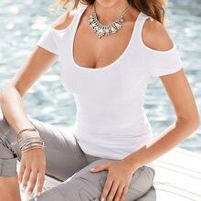 2016 Women Summer Fashion Casual Short Sleeve Off Shoulder Female Tumblr T Shirts Plus Size