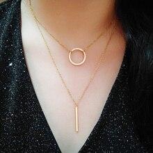 Cacana collar de acero inoxidable envío gratis nueva moda Stick colgante collar de las mujeres de venta al por mayor de joyería