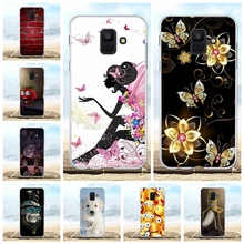 For Samsung Galaxy A6 2018 Cover Slim Soft Silicone Case Girl Patterned Coque Bag
