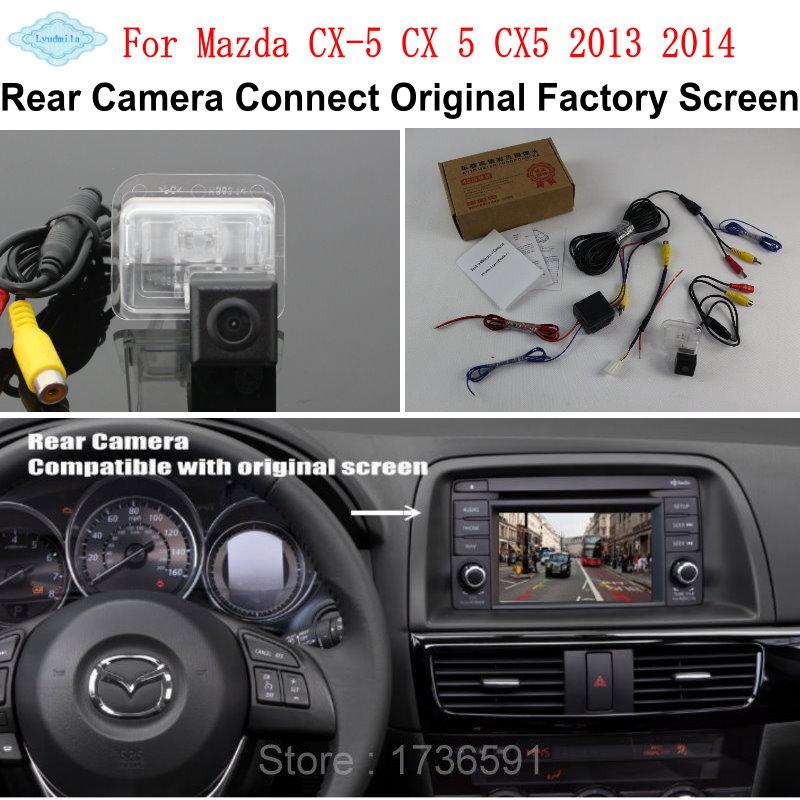imágenes para Lyudmila Para Mazda CX-5 CX5 CX 5 2013 2014/RCA y Original pantalla Compatible/Cámara de Visión Trasera/HD Copia de seguridad Cámara de Marcha Atrás