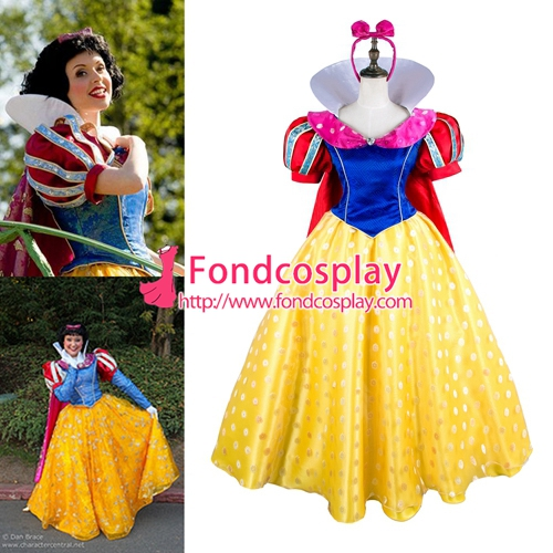 Snow white Princess new version Outfit Cape Movie Costume cosplay [G1779]