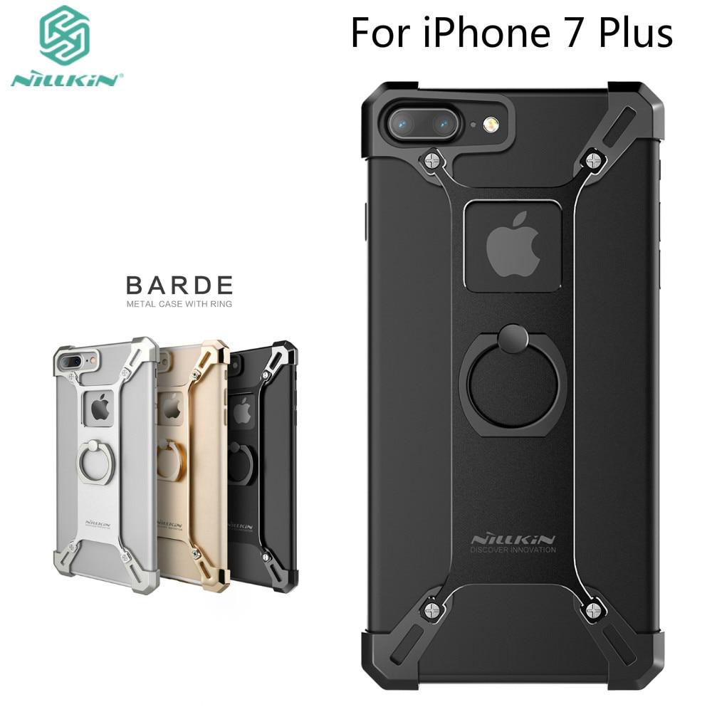 imágenes para Para el iphone 7 plus capa práctico teléfono del soporte de la cubierta de Nillkin de metal resistente Cubierta trasera en forma de anillo de soporte para el iphone 7 más caso en stock!