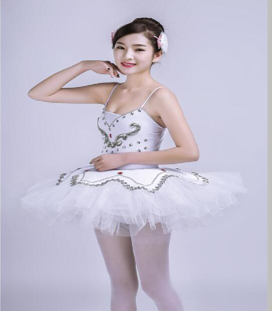 Professional White Ballerina Dress Classical Ballet Dresses For Girls Women Swan Lake Ballet Costume Adults Ballet Dance Clothes