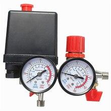 Воздушный компрессор давление клапан переключатель коллектор рельеф регулятор манометры 0 180PSI 240 в 45*75*80 мм популярный
