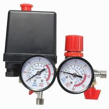 Air Compressor Pressure Valve Switch Manifold Relief Regulator Gauges 0 180PSI 240V 45*75*80mm Popular