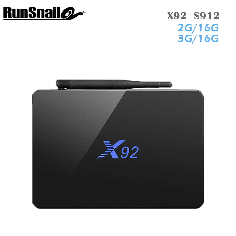Original X92 2GB 3GB 16GB 32GB Android 6.0 Smart TV Box Amlogic S912 Octa Core CPU 5G Wifi 4K H265 Android TV Box PK H96 PRO X96 original x92 3gb 32gb android 7 1 smart tv box amlogic s912 octa core kd player 4k h 265 bluetooth 4 0 set top box pk h96 max