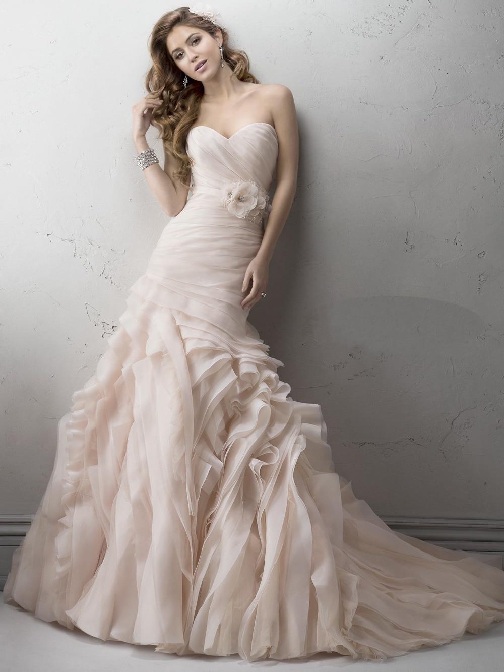 Pink and Blush Wedding Dresses