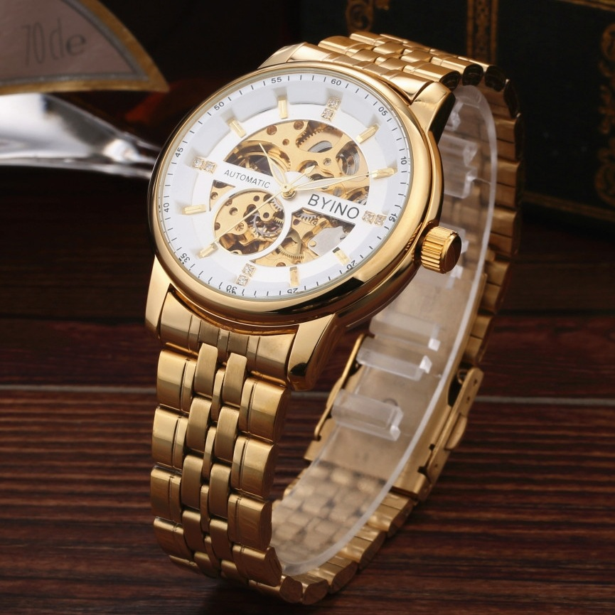 QLLS Luxury Brand Men Watch Gold Skeleton business Watches Mechanical Hand Wind Wrist watches Man's clock Relogio Masculino new hot sale skeleton hollow fashion mechanical hand wind men luxury male business leather strap wrist watch relogio masculino
