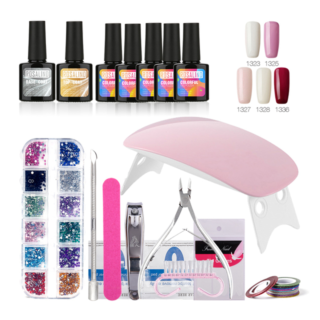 Rosalind Nail Gel Soak Off Polish Top Base Coat Nails Kit