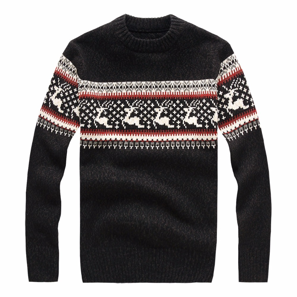 New 2019 Men Pullover Knitted Sweater Autumn Winter Fashion Brand Clothing Men's Sweaters With Deer Slim Fit