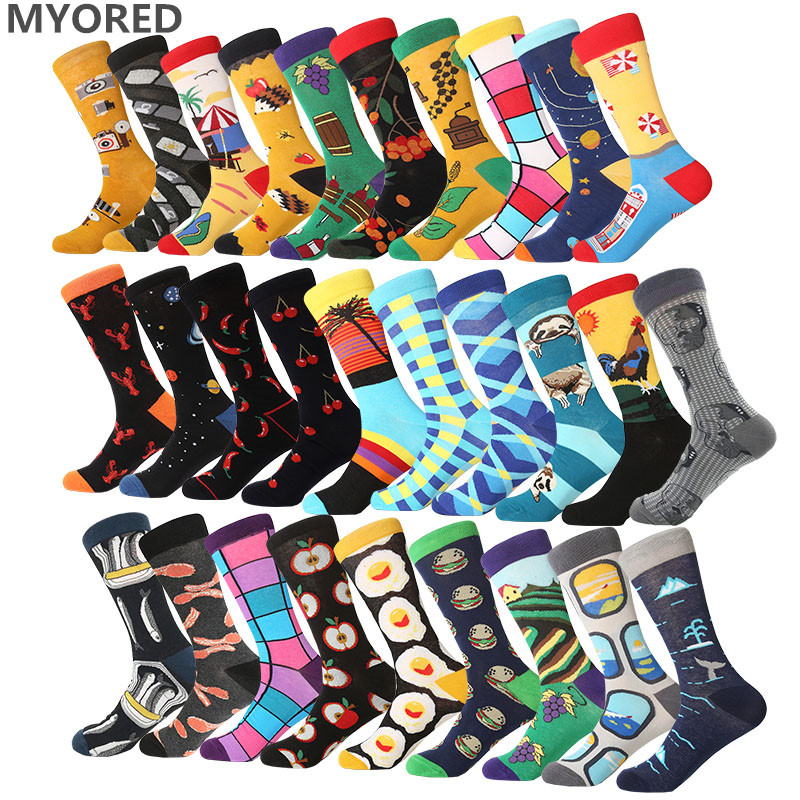 MYORED Cool Men's and women's couple   socks   Comfortable Fun Party Birthday Gift pop   Socks