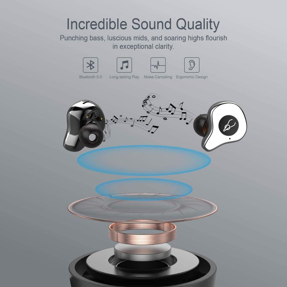Bluetooth Шум Отмена наушники Hi Fi за ухо Беспроводной гарнитура глубокий бас стерео Шум снижение наушники Bluetooth - 2