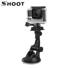 Ateş Mini araba vantuz dağı GoPro Hero 9 8 7 siyah Xiaomi Yi 4K Dji Osmo Sjcam sj8 Eken tutucu git Pro 8 aksesuar