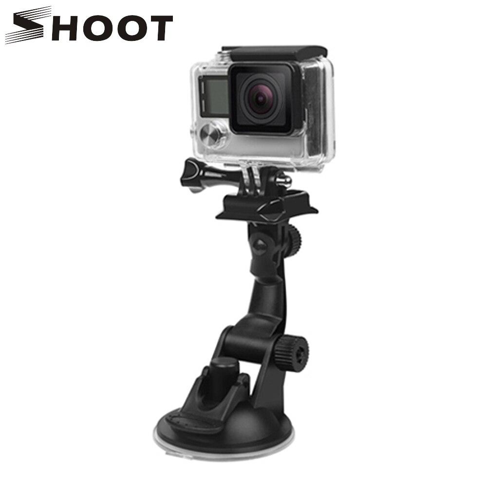 SHOOT Mini Car Suction Cup Mount For GoPro Hero 8 7 5 Black Xiaomi Yi 4K Dji Osmo Sjcam Sj8 Eken Holder For Go Pro 8 7 Accessory