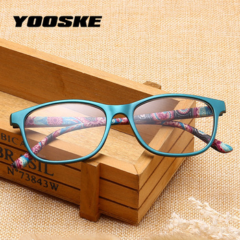 YOOSKE Men Ultralight Unbreakable Reading Glasses Women Anti Fatigue Reading Eyeglasses Female Presbyopic Prescription Eyewear